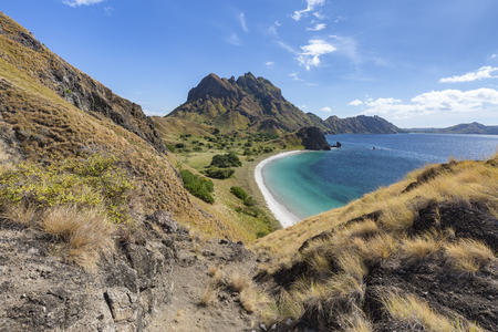 Empty beach on Pulau Padar island in the Komodo National Park.