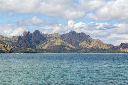 Interesting Mountains on Komodo Island in the Komodo National Park.
