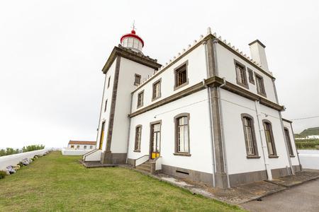 The Farol da Ponta da Ferraria lighthouse near the town of Ginetes. Banco de Imagens