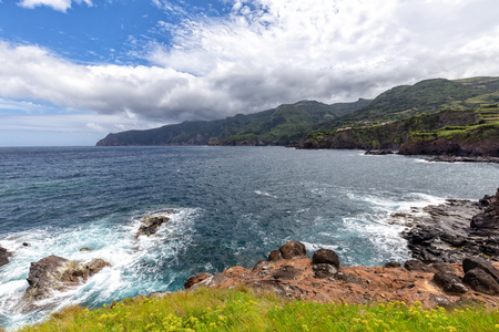 Coastline from Ponta Delgada on the island of Flores in the Azores.