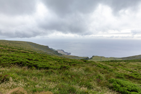 Faja Grande from Above on the island of Flores in the Azores. 版權商用圖片