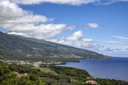 Mount Pico in the distance from Terra Alta on Pico island in the Azores, Portugal. Standard-Bild