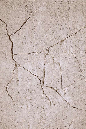 Cracks in cement wall