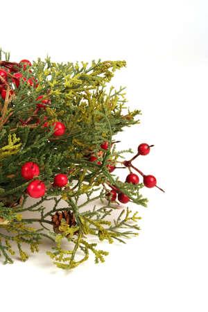 Christmas decoration on a white background photo