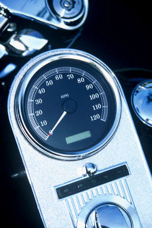 Speedometer on a motorcycle Stok Fotoğraf