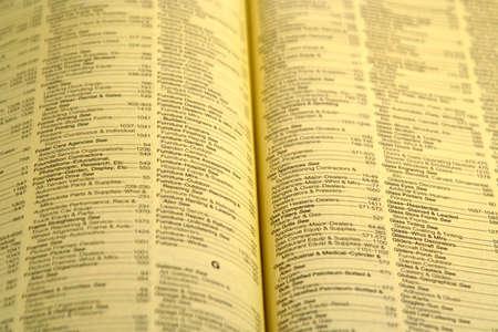 Yellow Pages indeks otwarty i pokazano bind Zdjęcie Seryjne