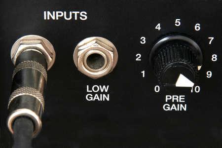 Closeup of control on an amp Stock Photo - 528188