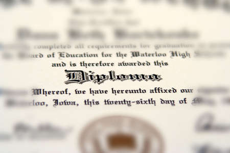 academia: High school diploma Stock Photo