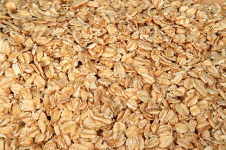 quaker:  Closeup of oatmeal Stock Photo