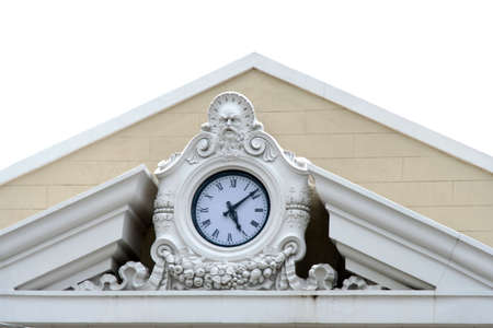 Clock at top of downtown building