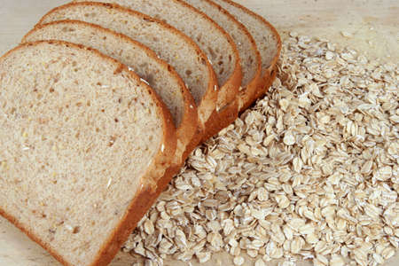 Bread and oats Stock Photo