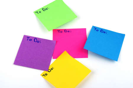 Colorful post it note with the words to do written at top of each
