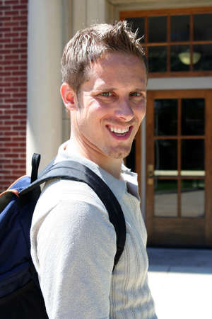 Male college student on campus Stock Photo - 547949