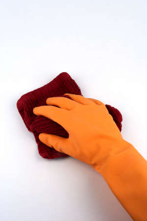 백그라운드에서 병 청소와 넝쿨 들고 낀된 손을 스톡 콘텐츠