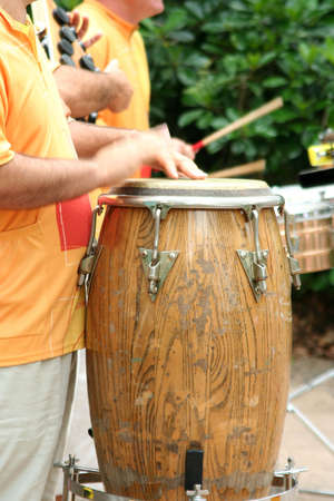 drumming: Close up of drummer beating on a drum