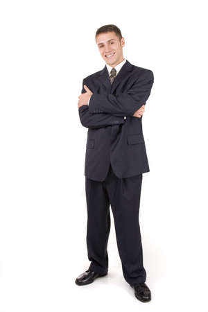 Attractive young businessman isolated on white background photo