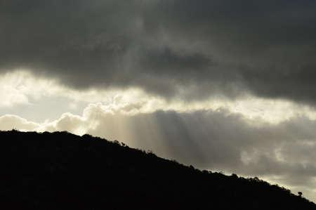 dark: dark sky in the dark landscape
