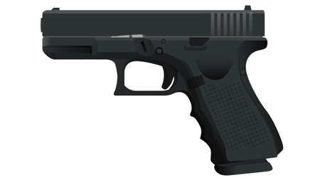 The popular handgun illustration from police officers. Illusztráció