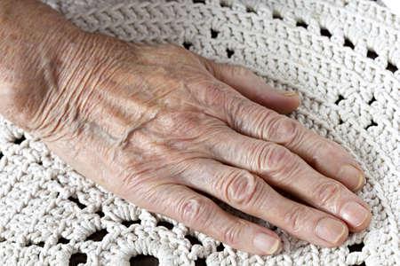 An elderly woman s hand Stock Photo
