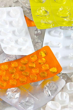 Pill blisters Stock Photo