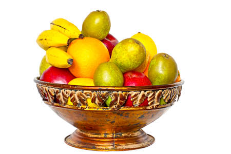 Fruits in the bowl Stock Photo