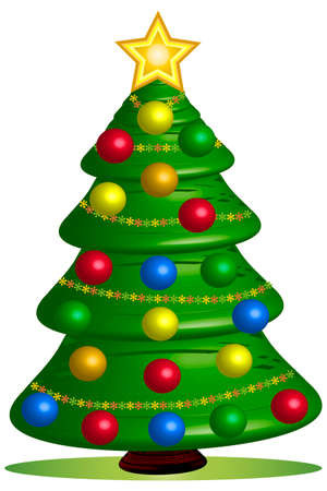 Christmas tree - illustration Stock Photo