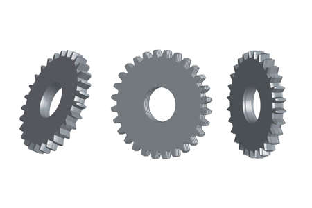 Gear wheels - illustration