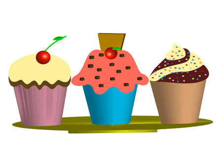 magdalenas: Muffins - Ilustraci�n Foto de archivo