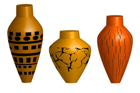 Ceramic vase - illustration