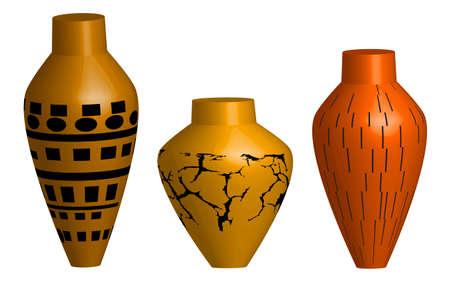 decorative urn: Ceramic vase - illustration