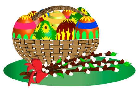 easter basket: Easter Basket -illustration