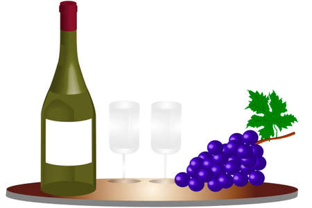 Bottle of wine - illustration