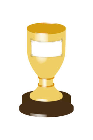 Cup trophy on white background illustration Stock Photo