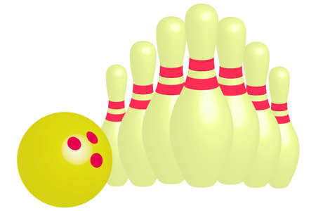 Bowling and bowling ball illustration