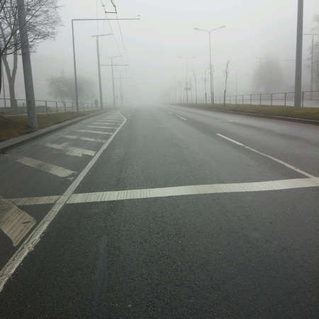 Street in the fog
