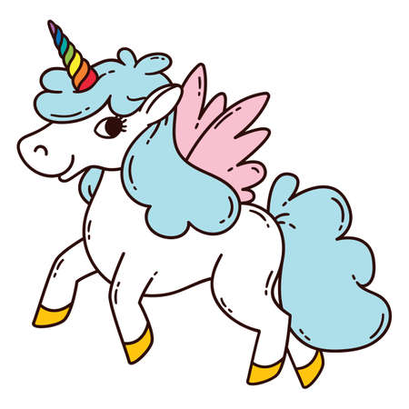 Unicorn with wings icon
