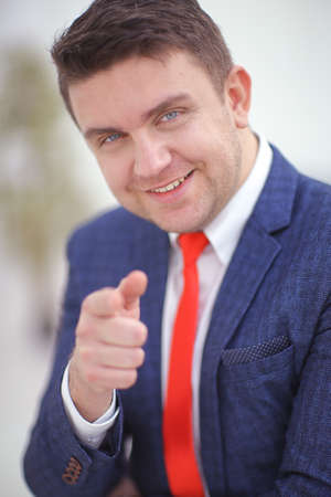 Coorporate employeer choosing you by pointing finger to the camera