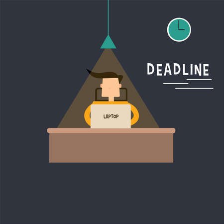 Character Deadline Flat design Illustration Vector