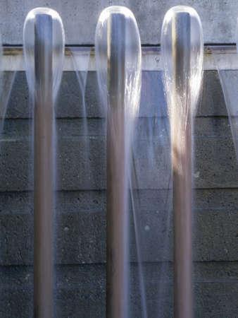 teardrop: Abstract Fountain.  Three (3) teardrop shaped heads