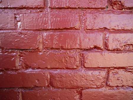 rasa: Red brick background.  Painted and smooth.
