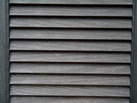 louvered: Wooden louvered background with gray finish Stock Photo