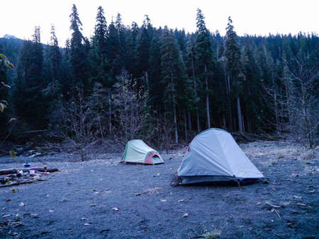 backcountry: Two tents in the backcountry