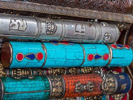 workmanship: Street vendor display of silver, coral, lapis souvenirs