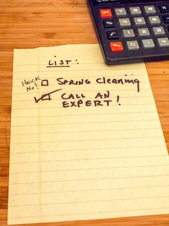 call an expert to help clean and organize