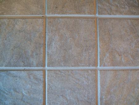 Ceramic tiles and sanded grout lines, landscape orientation