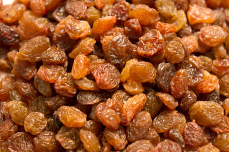 sultana: This is a closeup photograph of sultanas raisins