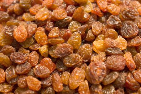 sultanas: This is a closeup photograph of sultanas raisins