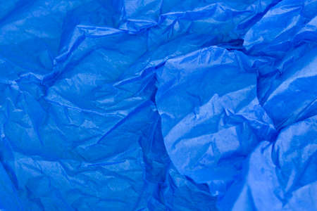 crinkly: This is a photograph of Blue tissue paper background Stock Photo