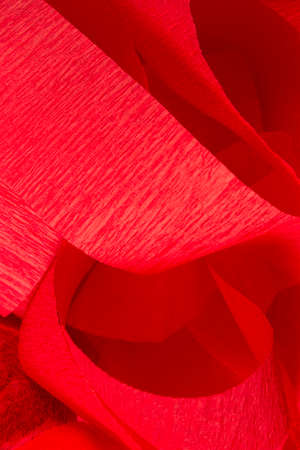 This is a photograph of Red Crepe paper streamers