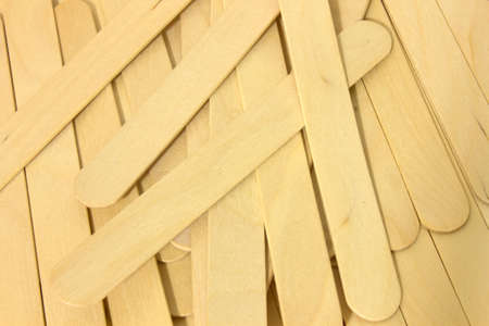 This is a photograph of wooden spatulas for waxing Imagens - 75714084